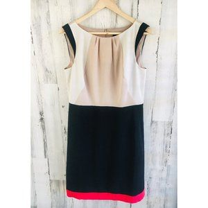 Ann Taylor Colorblock Sheath Work Dress Sleeveless